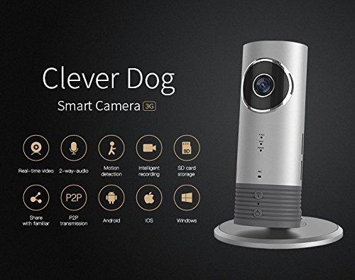 Cleverdog 3g Wifi Sim Card Smart Ip Camera And Remote Monitor Silver