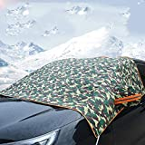 XBCC Auto Windschutzscheibe Abdeckung, Faltbare Winter Schutz Faltbare Auto Abdeckung Winter Abdeckung Frostschutzfolie, 145 * 210 cm (Camouflage)