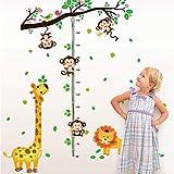 asfrata265 Kletterpflanze AFFE Giraffe Löwe Wandaufkleber Tiere Kind Wandaufkleber Kind Schlafzimmer Maß Höhe Wohnzimmer Decor