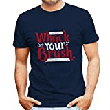 Deadpool Bob Ross Whack Your Brush Men's T-Shirt