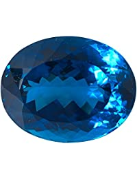 AAA Quality Rare London Blue Topaz 23x29 Mm Fine Faceted Oval Cut Loose Stone, Nice Blue Color, Wholesale Price...