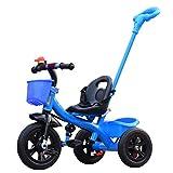 QWM-Baby Kinderfahrräder Dreirad-Baby-Wagen-Fahrrad-Kind-Spielzeug-Auto Aufblasbares Rad / Schaum Rad-Fahrrad Verwendbar für 1-2-3-4 Jährige (Junge / Mädchen), Blau Kindergeschenk-QWM ( Farbe : B type )