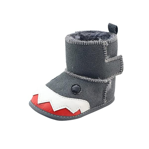 For 0-18 Months ,Clode® Toddler Baby Boys kids PU Leather Soft Sole Animal Shark Style Snow Boots Sneaker Prewalker Children Wellies Casual Booties Slippers