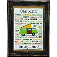 Camping entspannt. Druck Poster
