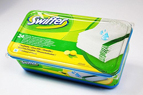 24 Pack Swiffer Wet Wischtücher Nachfüllpackung Feuchte Bodenreinigungstücher (2 Pack (2x24Tücher)) - Citrus Ii Citrus-reiniger
