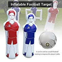 mildily Tumbler Design,Soccer Inflatable Dummy Football Practice Tumbler for Dribbling Wall Passing Drills 160CM,Made from PVC Material, The Dummy is Wear-Resistant and Waterproof