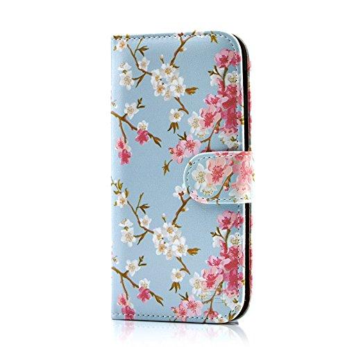 29d01baeadd 32nd Floral Series - Funda tipo Libro de Piel sintetica con diseño Floral  para.