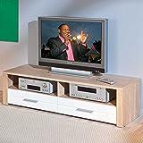 TV-Unterschrank in Sonoma Eiche Weiß 150 cm Pharao24