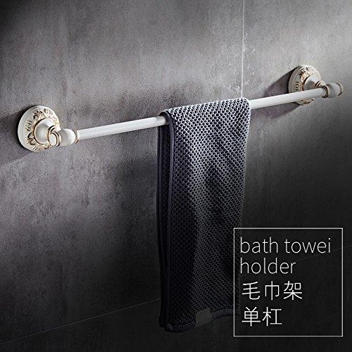 MangeooEuropäische lack Rack, weiß Falten Handtuchhalter, Badezimmer, Zahnbürste, Seife, Rack Rack, Single Handtuchhalter