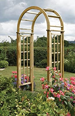 Timber Round Top Garden Arch OGD034
