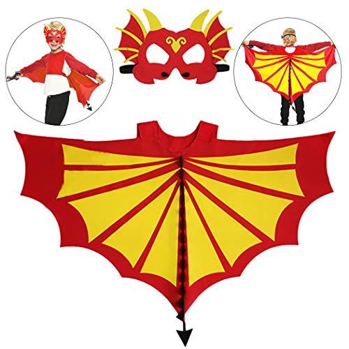 Joyibay Kids Creative Dress up Kostüm Cape mit Maske für Halloween Dinosaurier Kostüm Set Kostüm Dekor (Kostüme Creative Kid)