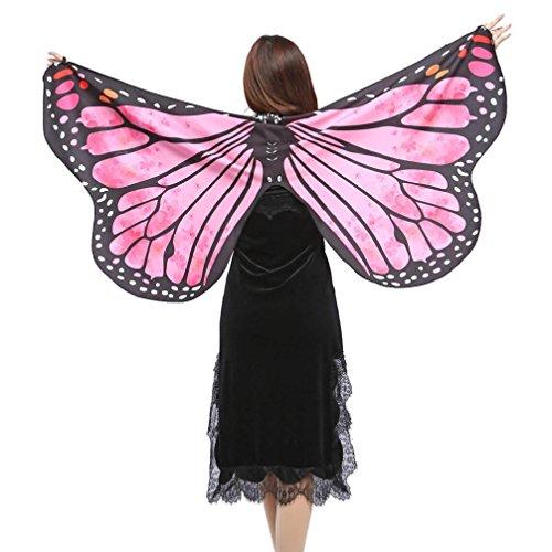 eiden Frauen Schmetterlingsflügel Schal Damen Nymph Pixie Poncho Kostüm Zubehör Damen umhang (Hot Pink) (Heilige Hund Kostüm)