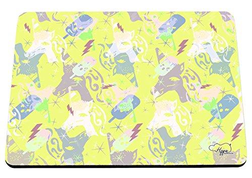 hippowarehouse Magische Eis Einhorn Muster bedruckt Mauspad Zubehör Schwarz Gummi Boden 240mm x 190mm x 60mm, gelb, Einheitsgröße (Gelb-eis-wanne)