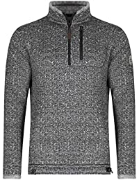 Weird Fish State 1/4 Zip Soft Knit Fleece Sweatshirt