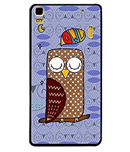 Printvisa 2D Printed Owl Designer back case cover for Lenovo A7000 - D4459