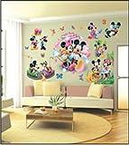 ENFANTS STICKERS MURAUX GRAND DISNEY MICKEY MOUSE MINNIE AUTOCOLLANTS FILLES CHAMBRE DE MUR CHAMBRE DECOR Décoration Sticker Adhesif Mural Géant Répositionnable