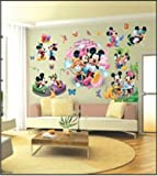 Micky Maus Wandsticker Mickey Mouse Disney Wanddekoration Kinder Wandbild Aufkleber