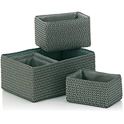 Kela 21783 Korb-Set 5tlg, Unterschiedliche Größen, PP-Kunststoff, Rimossa, Grau