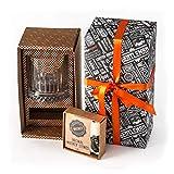 Bicchiere da whisky con pietre set. 1grande Elysia whisky vetro 12PCS whiskey stones 1sacchetto regalo. Ideale per gli amanti del whisky