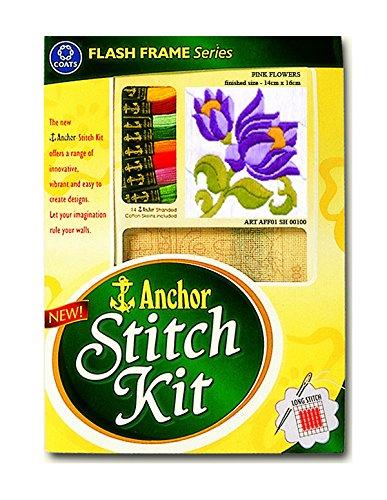 Anchor Stitch Kit Pink Flowers