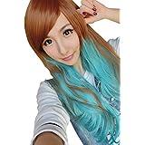 harrowandsmith Mujer Marrón Y Azul peluca ideal para Casual Wear a disfraz partes de Halloween fiestas temáticas y como General Wear