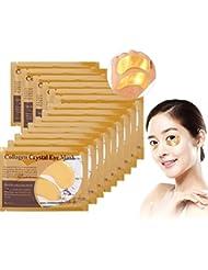 50 Paires Collagène Patch Yeux Hydratant Anti-rides Éliminer Poches et Cernes Anti Age Masques Soin pour les Yeux