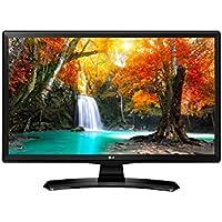 "LG 24MT49VF 24"" HD Ready Computer Monitor TV LED Display, 250 cd/m², 1366 x 768 pixels, Certificato tivùsat, Nero"