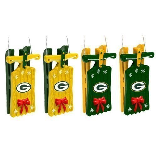 Green Bay Packers Sleigh Ornament by Forever Collectibles