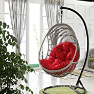 Hanging Egg Chair Cushion, Thicken Without Stand Swing Seat Cushioning Nest Hanging Chair Back With Pillow