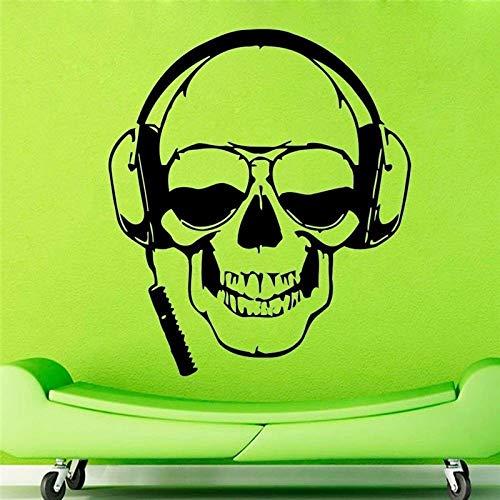 yiyiyaya Nuevo Creativo Skull Music Auriculares de Vinilo de...