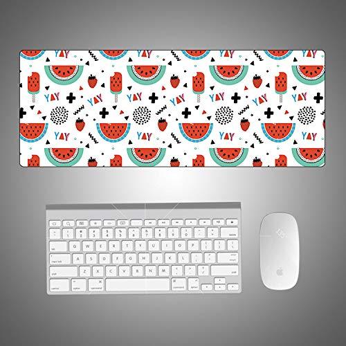 Niedlichen Fisch Kostüm - Cartoon Sommer Obst kleine frische mauspad kreative niedlichen Student kreative rutschfeste mauspad Erdbeere Obst 900 * 400 * 3mm