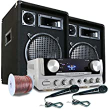 Equipo PA READY 2 GO amplificador altavoces micros 800W