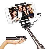 Luxsure Selfie-Stick mit Kabel, ausziehbar, Teleskopstange, Handstativ ohne App und Bluetooth für iPhone 7 / 6S / 6 / 6 Plus und Samsung Galaxy S7 / S6 / Edge