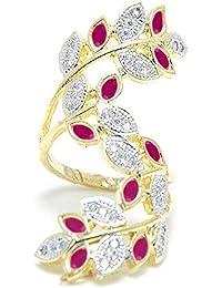 Cardinal American Diamond Adjustable Party Wear Traditional Party Wear Adjustable Ring For Women/Giirl
