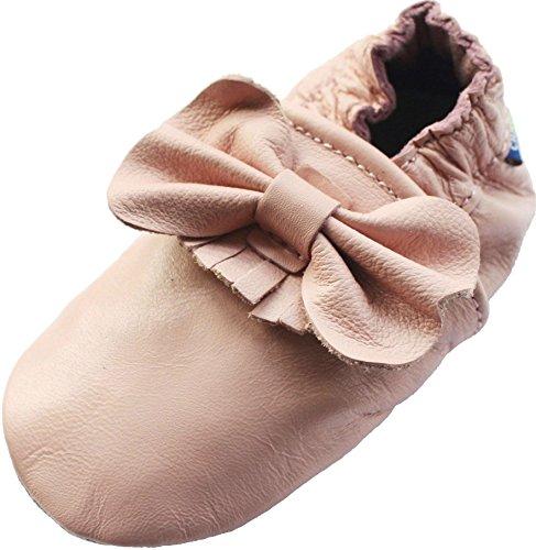 Carozoo Bow Fringe Pink, Chaussures Enfant/Bébé Semelle Souple Fille