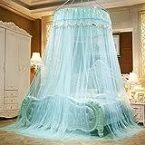 Moskitonetze MEIDUO Bett Durchmesser 100 cm Kuppel 100% Polyesterfaser Einzelne Tür Stand-Stehen Erhöhung Verschlüsselung Bettmantel Insekt Fly Protection Bildschirm (Farbe : 3)
