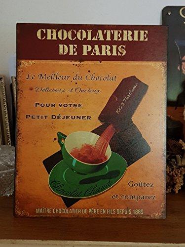 Antic Line Plaque chocolaterie de Paris 28 * 22 cm