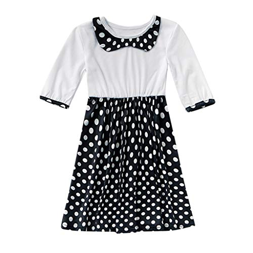 Dot Clothes Neck me Print Mommy Long Collar Family Sleeve O Toddler Girls Dress OP0wnk