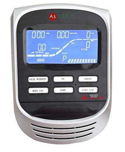 AsVIVA H17_P Heimtrainer Ergometer Cardio, App-Bluetooth, Generator System, 15 kg Schwungmasse - 2