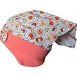 Maximo Mädchen Mütze mit Kopftuch Früchte-Tiere, Gr. 49,UV-Schutz 50+
