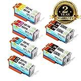 12 Druckerpatrone PGI-550 CLI-551 Kompatibel mit Canon Pixma IP7250 IX6850 IP8750 MG5450 MG5550 MG6350 MG6450 MG7150 MG7550 MX920 MX925 MX725 MX720 IP8700 IP8750 IX6800 Multipack -Colorfish