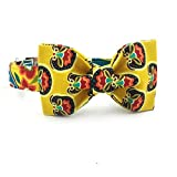 Gelbe Blume Hundehalsband und Leine mit Fliege Hund und Katze Trainning Kragen und Leine