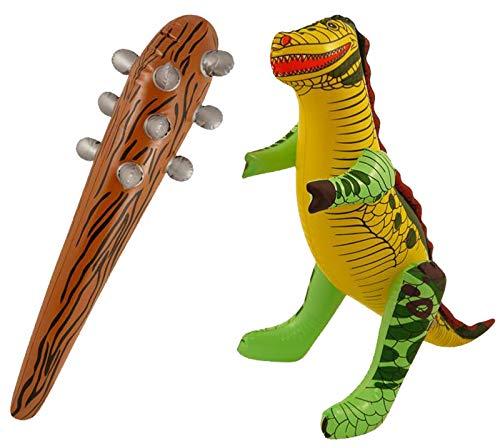 Caveman Kostüm Party - Labreeze Aufblasbares Dinosaurier-Jurassic Park mit Caveman Club Blow Up Party Rep Set
