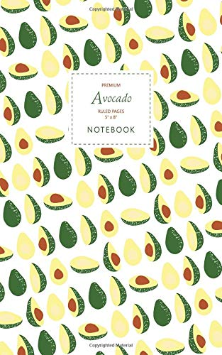 Avocado Notebook - Ruled Pages - 5x8 - Premium: (Original Edition) Fun notebook 96 ruledlined pages (5x8 inches  12.7x20.3cm  Junior Legal Pad  Nearly A5)