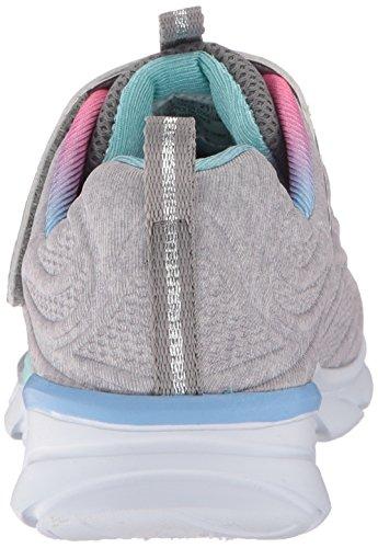Skechers Swirly, Running Fille Multicolore (Light Grey/multicolour)
