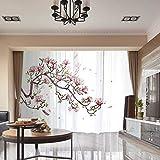 RLF LF Verdunklungsvorhangplatten Für Wohnzimmer Haus Dekoration 3D Digital Blumen Pflanze Wärmeisolierte Tüll Gardinen Gardinen Durch RLF.LF,White,200Cm*250Cm