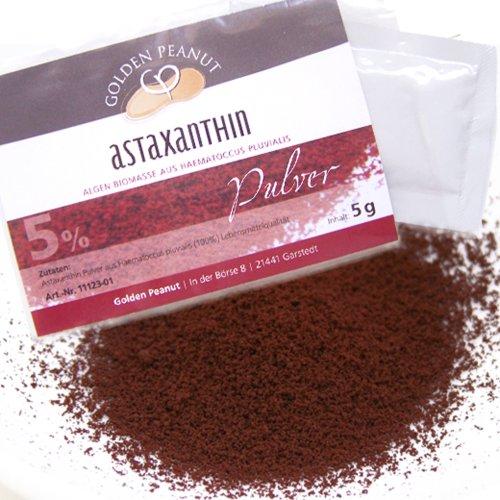 Astaxanthin Pulver Haematococcus Pluvialis 5% 5g Beutel
