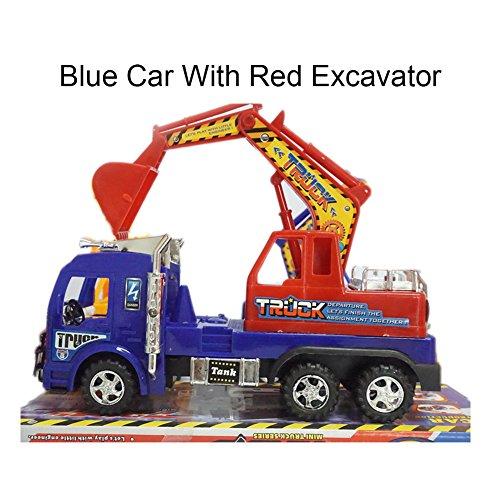 Escavatore ponny giocattolo in plastica, veicolo da costruzione con macchina, giocattoli per bambini, per giocare all'aperto, 3 colori.