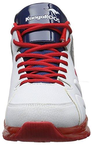 KangaROOS K-lev Vi Hi, Sneakers basses mixte adulte Mehrfarbig (White/dk Navy)