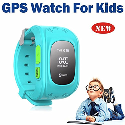 Amazing GPS Tracker Kinder Smartwatch Armbanduhr Telefon Antiverlust SOS Armband Blau Abbildung 3